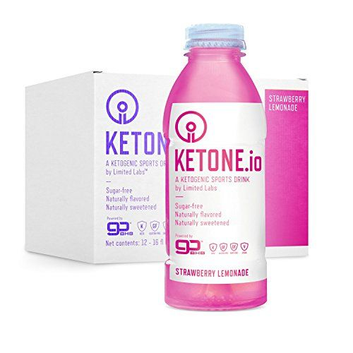 Ketone.io Sports Drink, Strawberry Lemonade, 17.38 Fl Oz (Pack of 12)  CARB-FREE LOW-CALORIC SUPERFUEL // The world's first ketogenic sports drink, Ketone.io is the new vision of metabolic energy  KETOSIS IN A BOTTLE // 11,000mg of ketone salts plus electrolytes in each convenient ready-to-drink bottle. Ketone.io is the ONLY bottled form of exogenous ketones.  ZERO SUGAR // Ketone.io is naturally sweetened with stevia.  YOUR NEW ALLY IN THE WAR AGAINST FAT // Drink Ketone.io before/dur...