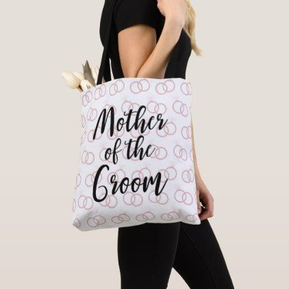 Mother of the Groom Wedding Ring Pattern Tote Bag - chic design idea diy elegant beautiful stylish modern exclusive trendy