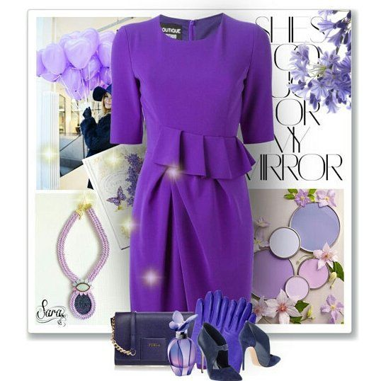 Fashion set with my necklace #purple #navyblue #necklace #etsy #etsymntt #fashion #clothes #etsyshops #violet #lilac #collar #rope #jewelry #jewellery #new #blogger #fashionjewelry