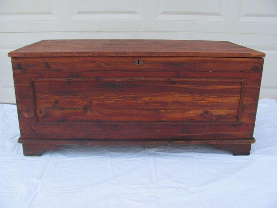 Beautiful Vintage Handmade Amish Cedar Hope Chest Trunk
