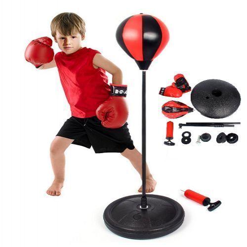 Boxing Punching Ball Set Stand Gloves Bounce Back Base Kids Play MMA Small Kids #BoxingPunchingBallSet