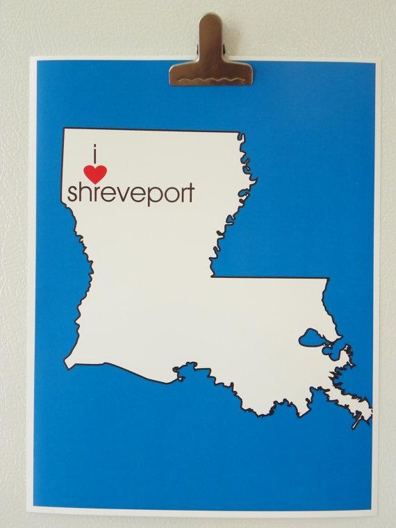 Louisiana Map Louisiana Wedding Gifts Louisiana Poster