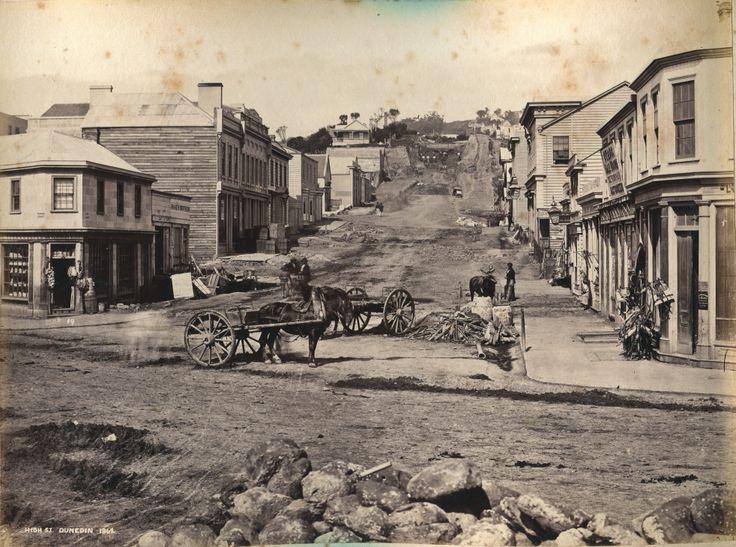 Dunedin - High Street - 1862
