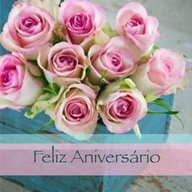 Resultado de imagem para feliz aniversário com flores lindas