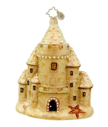 Radko Ornament Sand Castle | Christopher Radko Ornaments Limited Editions, Little Gems, Personalized & More
