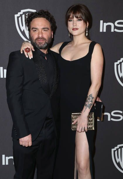 Johnny Galecki and Alaina Meyer attend the InStyle And ...