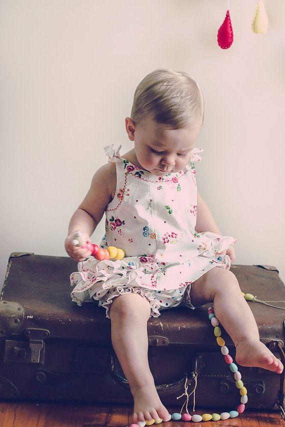 Sewing pattern SUNNY DRESS & BLOOMERS girls dress pdf sewing