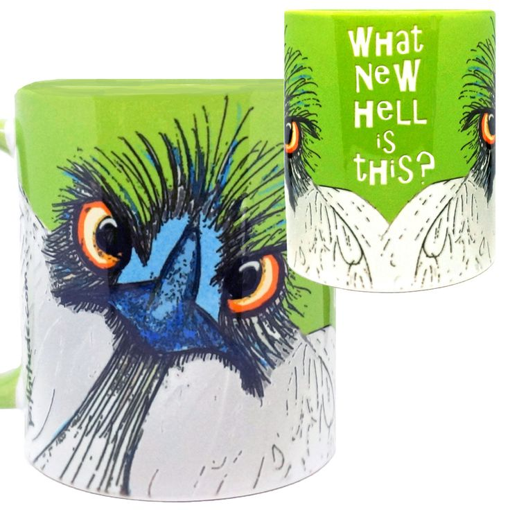 New Hell Ostrich Funny Green Mug