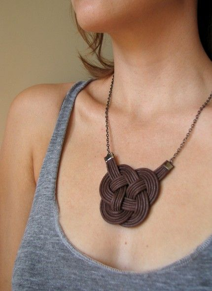 Knotted Accessories | jewelry | Pinterest | Leather crafts ...