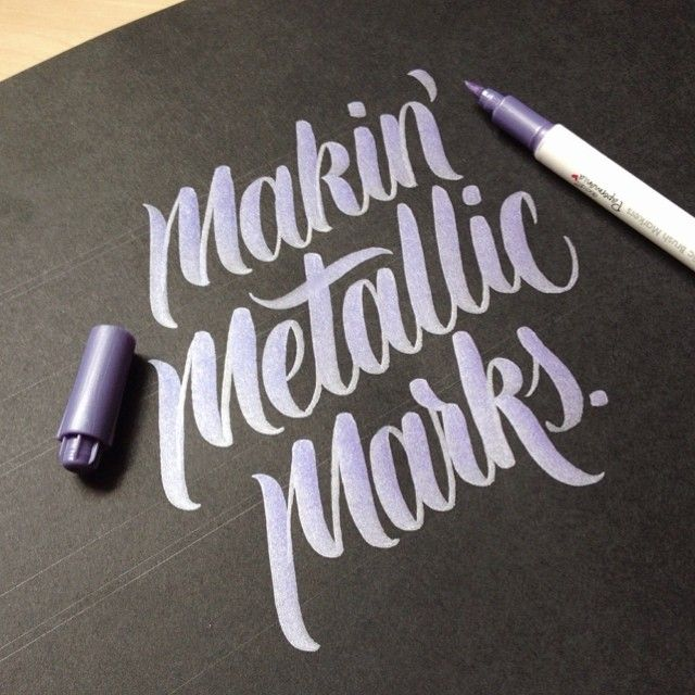 pinterest.com/fra411 #calligraphic - Makin' Metallic Marks by hand-type