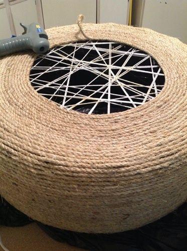 Best 25+ Tire ottoman ideas on Pinterest | Rope tire ...