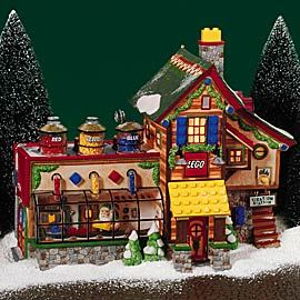 """Department 56: Products - """"LEGO® Building Creation Station"""" - View Lighted Buildings.  Retired north poe"""