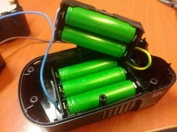 Convert a Black & Decker Cordless Drill Battery to Lithium Ion