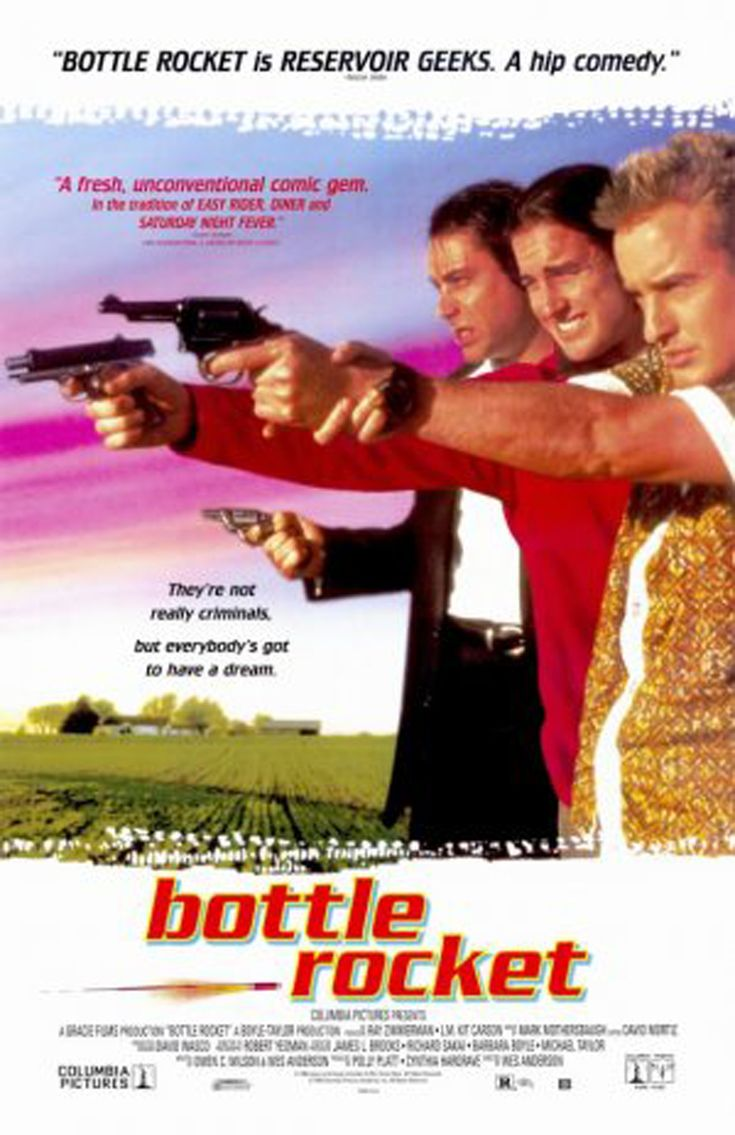 Bottle Rocket is a 1996 American crime comedy film directed by Wes Anderson. It was co-written by Anderson and Owen Wilson. In addition to being Wes Anderson's directorial debut, Bottle Rocket was the debut feature for brothers Owen and Luke Wilson, who co-starred with James Caan and Robert Musgrave.