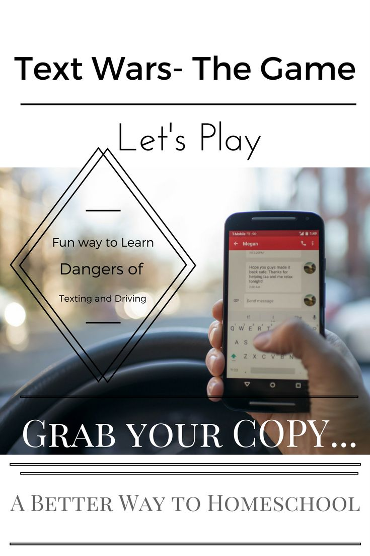 Teach Kids the Dangers of Texting and Driving {Get your copy of TEXT Wars}