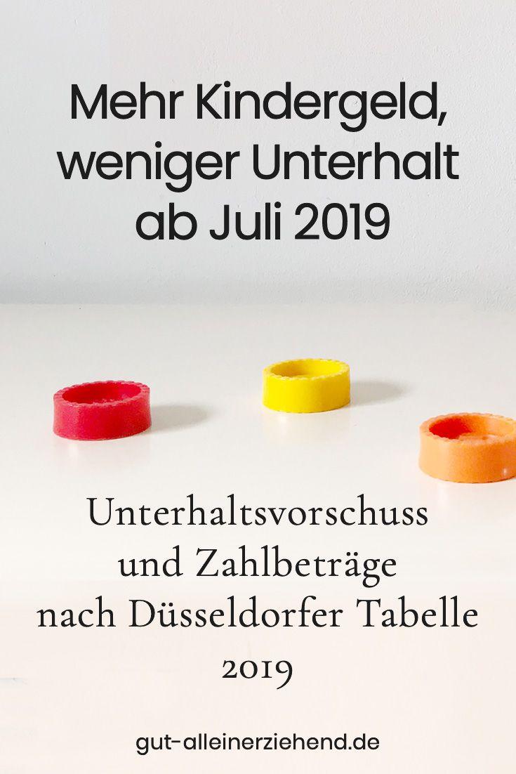 Dusseldorfer Tabelle Mit Zahlbetrag Ab Juli 2019 In 2020 Mit Bildern Kindergeld Kindesunterhalt Unterhalt