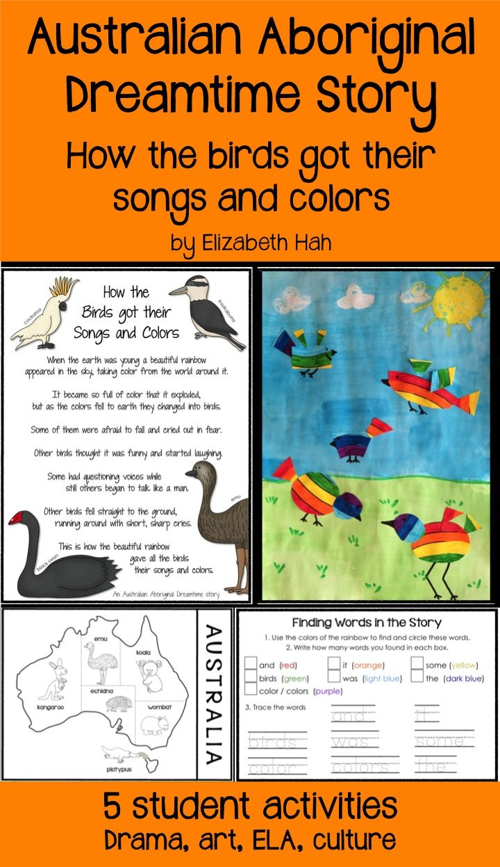 45 best indigenous images on pinterest aboriginal culture australian aboriginal dreamtime story how the birds got their songs and colors biocorpaavc Choice Image