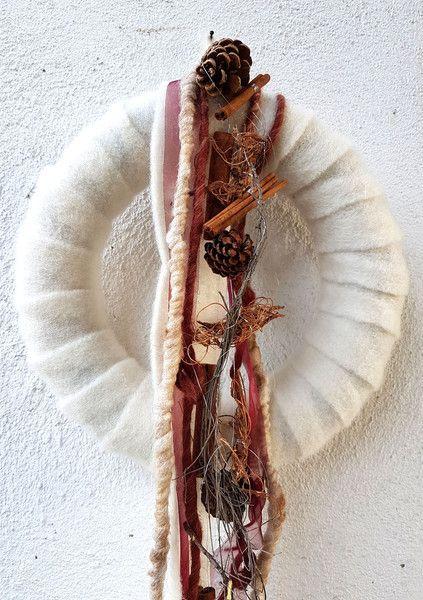 Türkränze -  Kranz ♥ Filz ♥ wunderschön♥winterlich - ein Designerstück von blumen-atelier bei DaWanda