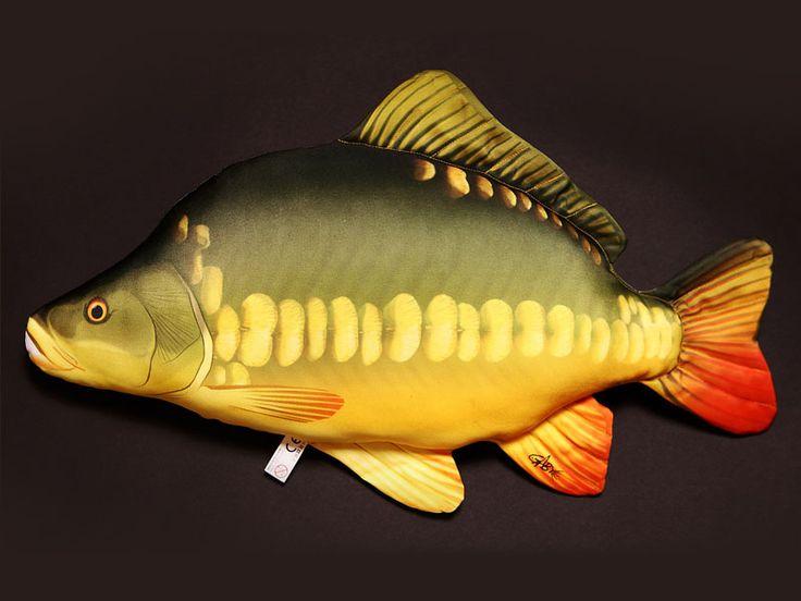 Ryba poduszka pluszowa KARP 61cm prezent zabawka