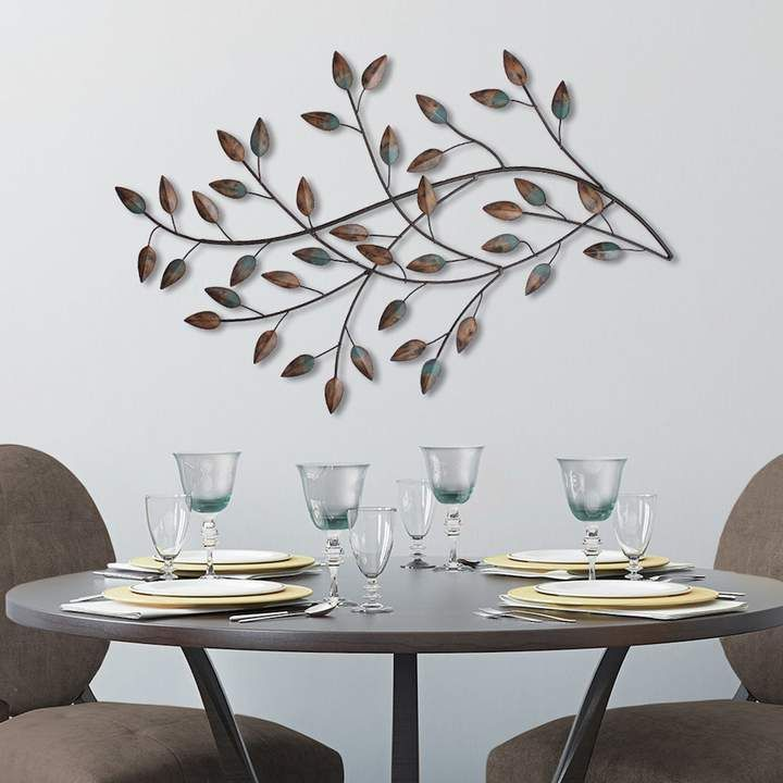 Stratton Home Decor Blowing Leaves Metal Wall Decor Metal Wall Decor Stratton Home Decor Metal Tree Wall Art