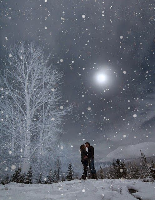 A perfect date night - a walk in the gently falling snow, coming home to hot chocolate, and a movie. Ahhhh.