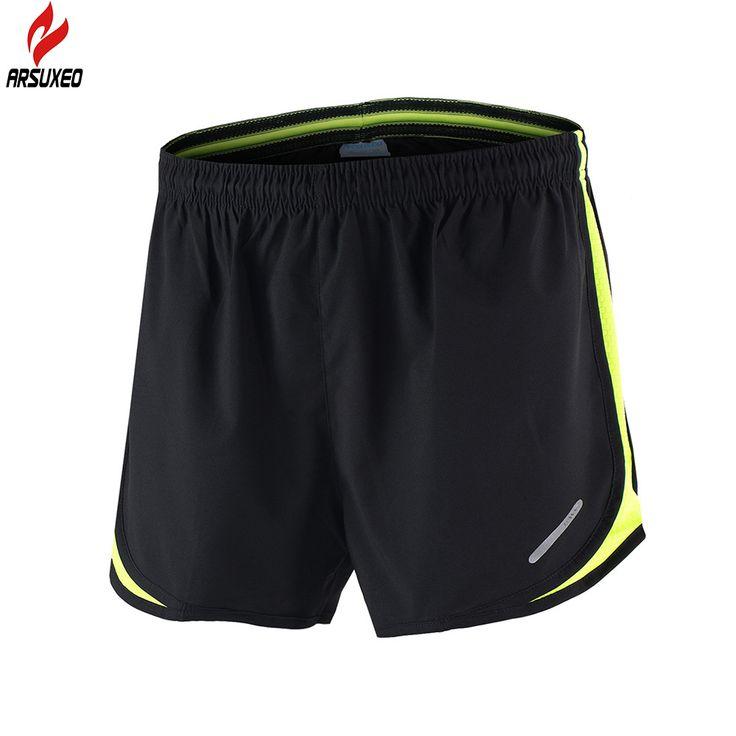 """Arsuxeo 2016 pria olahraga 3 """"menjalankan celana pendek dengan kantong pelatihan jogging celana pendek aktif b165"""