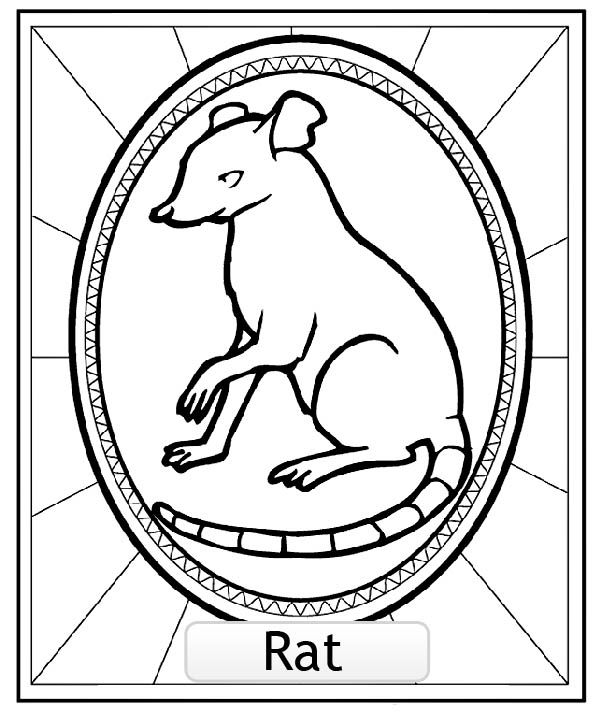 Dessin De Signe Chinois coloriage signe astrologie chinois du rat, a partir de la galerie