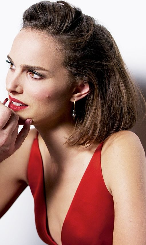 Natalie Portman behind the scenes of Christian Dior's 2016 Rouge Dior campaign.