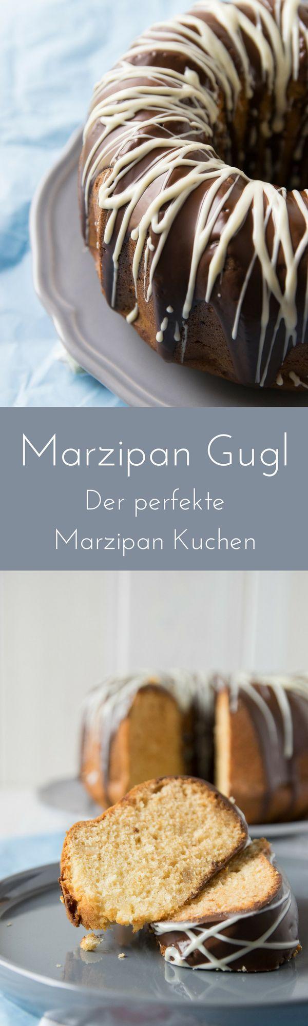 Einfaches Rezept für Marzipan Rührkuchen in Guglhupf Form