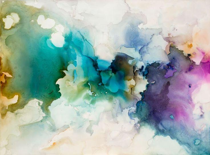 Genesis No. 1 Alcohol inks on Claybord, 30x40 inches ©2014 Andrea Pramuk Art Studio, LLC