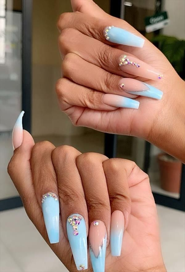53 Hottest Acrylic Coffin Nails Design For Spring Long Nails Latest Fashion Trends For Woman In 2020 Nail Designs Spring Coffin Nails Glitter Long Nails