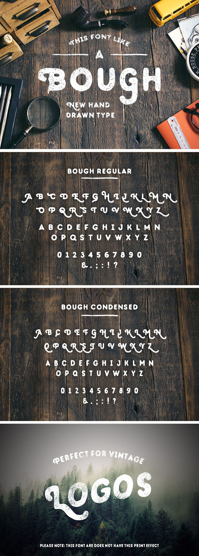 Bough: Hand-Drawn Typeface  Bough is a hand-drawn typeface featuring vintage aesthetics. It goes in two characters: regular and condensed. Each letter has an alternate glyph. Also, some glyphs a different in both characters. You can combine the characters to get an elegant vintage look.  We thank Pavel Korzhenko for providing us with this wonderful freebie!