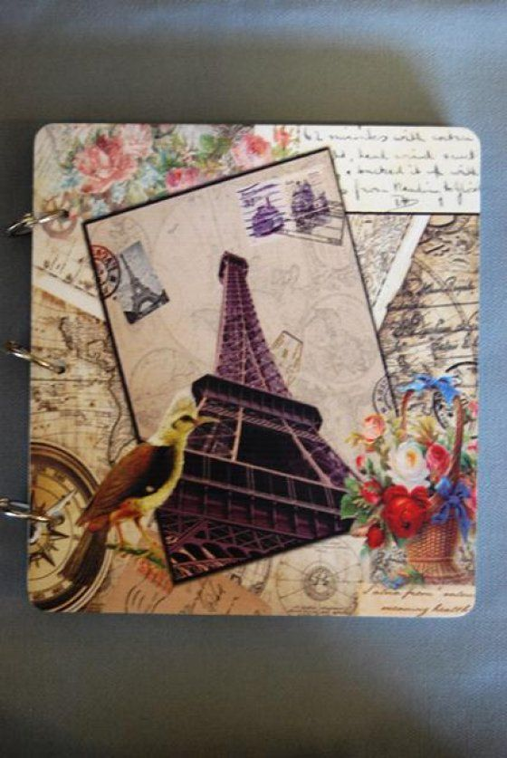 Fotóalbum Párizs papír 17x17cm multicolor