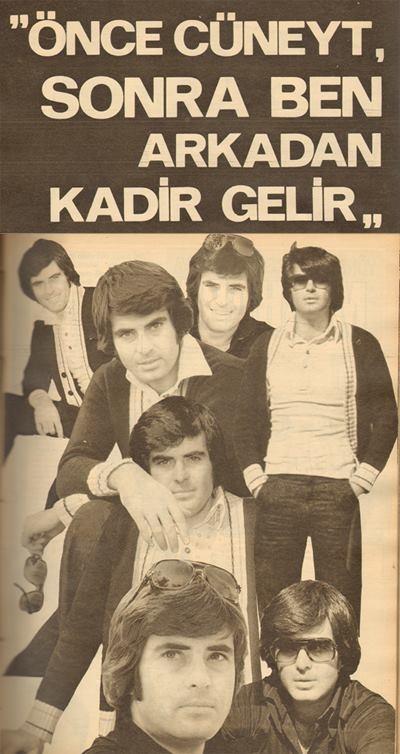 Tarık Akan'a göre Yeşilçam'ın ilk üç erkek jönü. (1977)