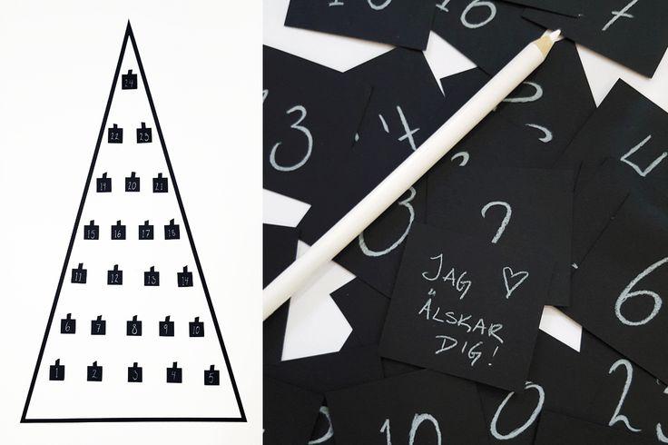 DIY - Christmas tree Advent calendar by Daily Dalili