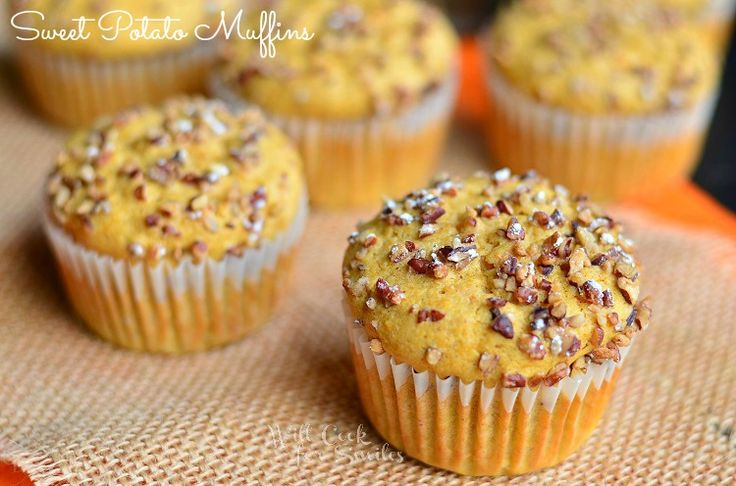Delicious and nutritious Sweet Potato Muffins! Soft and flavorful. If you love sweet potatoes, you will love these muffins.