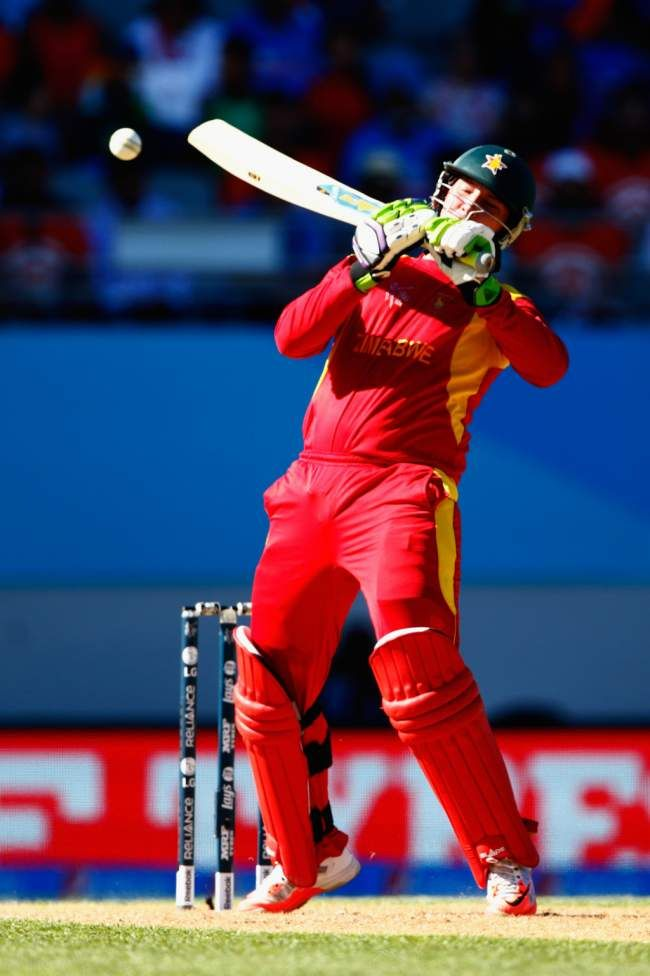 India vs Zimbabwe, 39th Match, Pool B Taylor got to his ton with a neat ramp shot for six