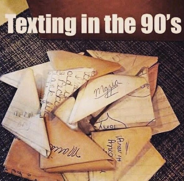 Texting in our childhood...
