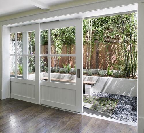 Kitchen doors.  http://feldmanslidingdoor.jpg prettiest sliding glass doors I've ever seen