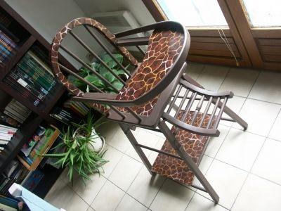 Chaise haute -  - Vous avez relooké un meuble ? Montrez-nous.