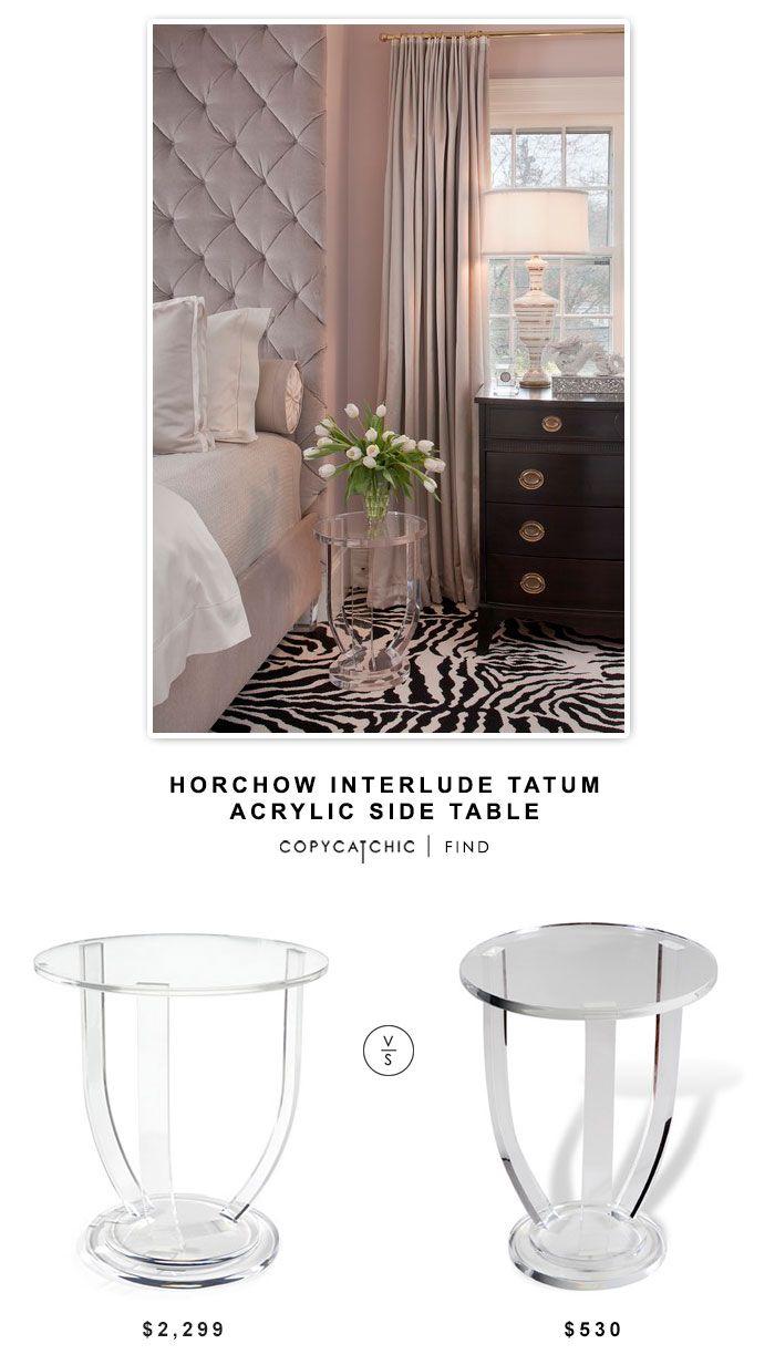 @horchow Interlude Tatum Acrylic Side Table $2299 vs @wayfair Interlude Lila End Table $530