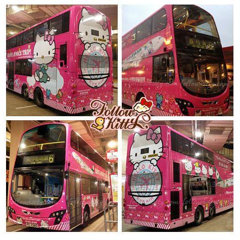 Eva Air Hello Kitty Jet Theme Bus