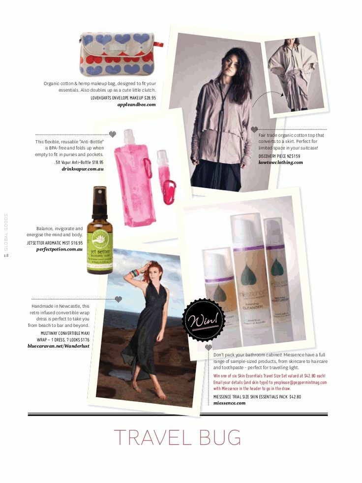 #miessence skin essentials pack was featured in Peppermint magazine.