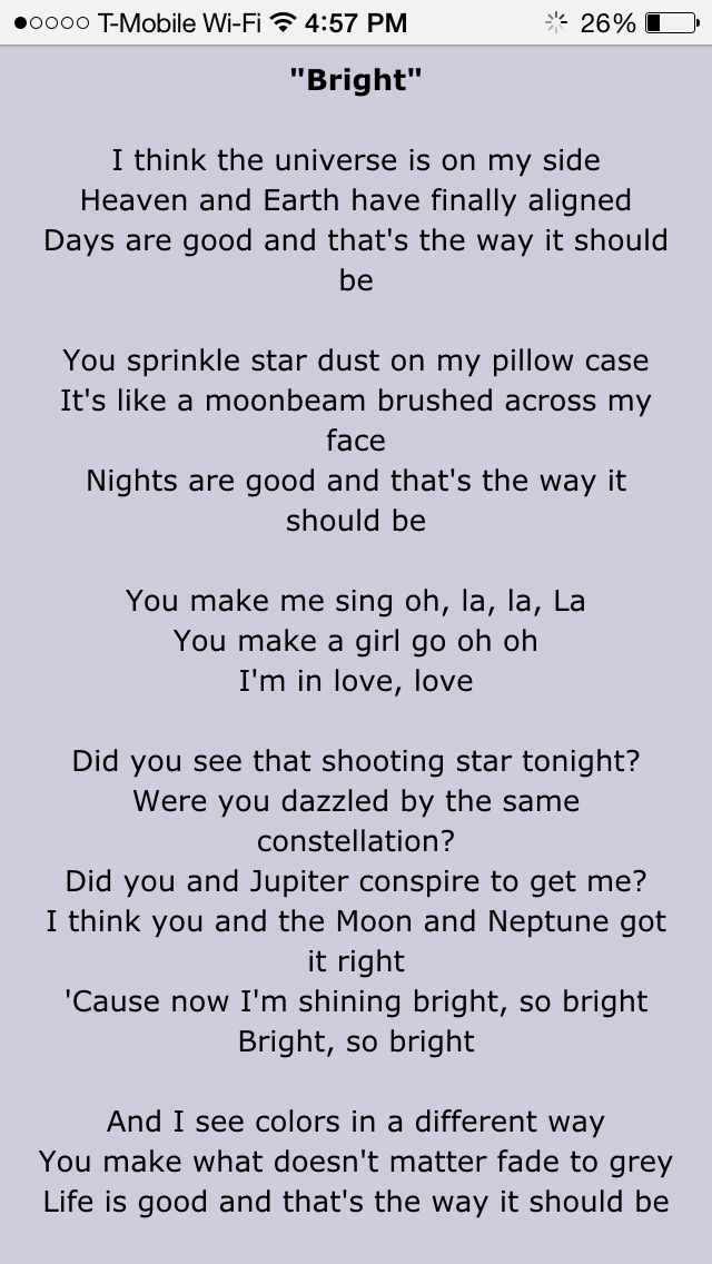 Bright by echosmith SUCH AN AMAZING SONG!!