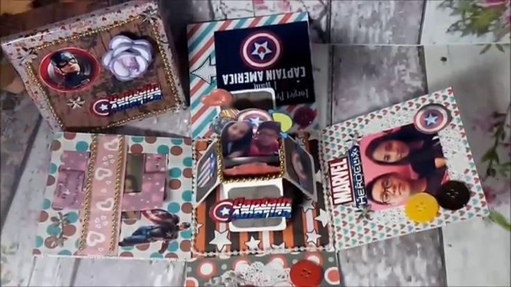 DIY - EXPLODING BOX for Valentine's Day in Captain America Theme (Reques...