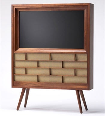 High Tech - TV à écran plat plasma au look 50's #retro