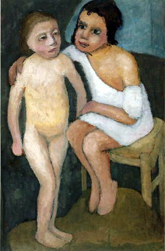 Paula Modersohn-Becker -this picture looks like comfort because the older girl like comforting the little one letting her know it's okay to vent
