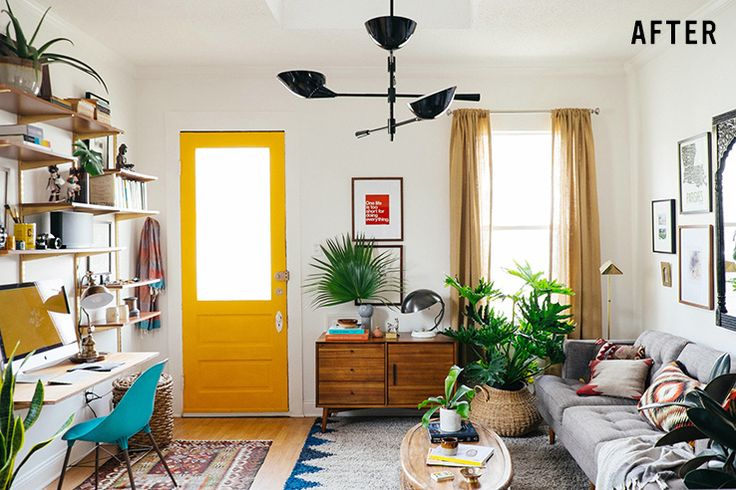 Awesome small living room transformation in New Orleans | west elm