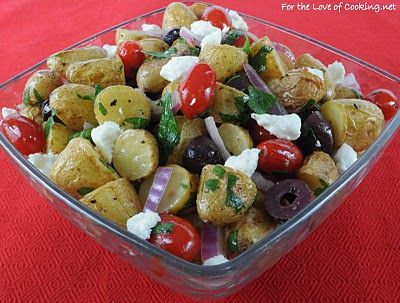 For the Love of Cooking » Mediterranean Roasted Potato Salad AND the Giveaway Winners