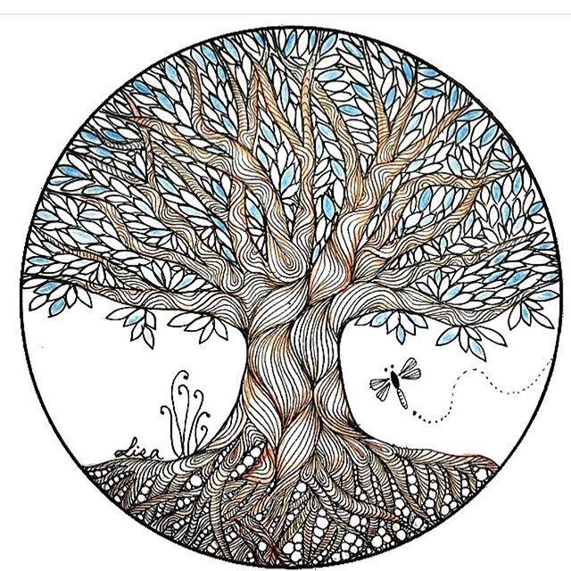 Tree of Life zentangle.